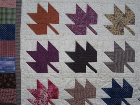 Maple Leaf Quilt Pattern by Klein Meisje Quilts Fall Maple Leaves