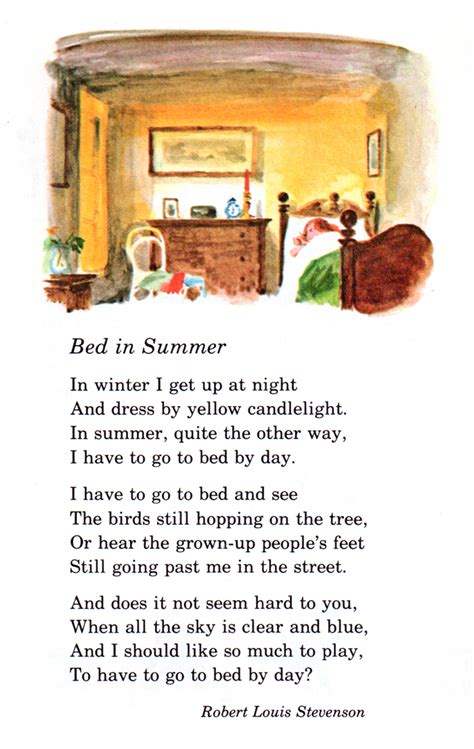 bed in summer 15 favorite poems from childhood writer s relief inc
