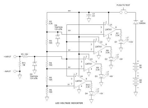 led voltage indicator circuit led dc voltage indicator