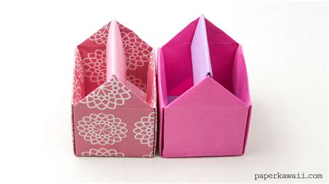 origami tool box origami toolbox pen pot paper kawaii