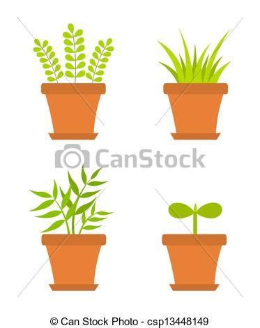 pots stock illustration image 45254770 eps vector of pot plants plants growing in pots vector