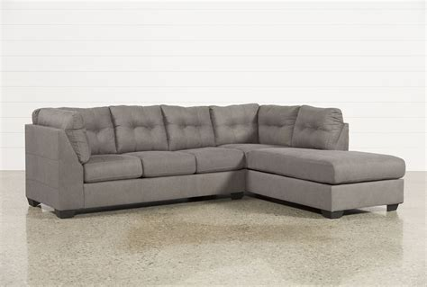 chaise lounge sectionals maier charcoal 2 piece sectional w raf chaise living spaces