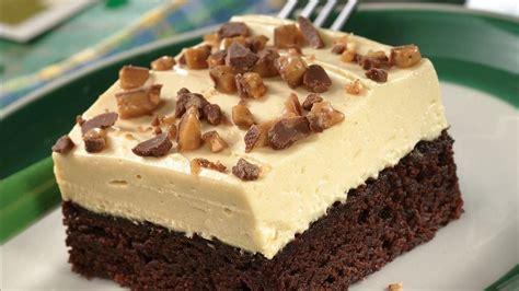 irish cream topped brownie dessert recipe from pillsbury com