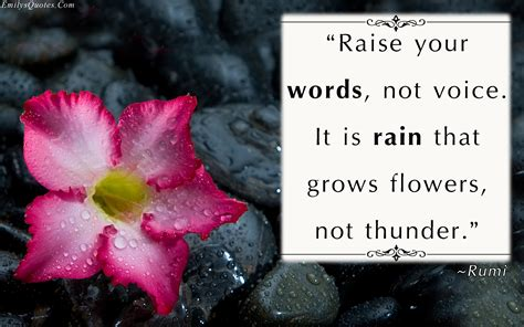 flowers  rain quotes quotesgram
