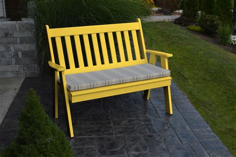yellow garden bench 4 traditional english bench 187 amish woodwork