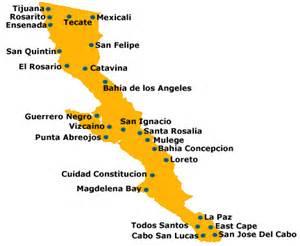 map of baja california