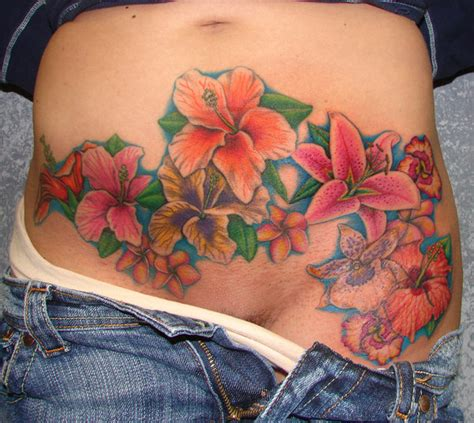 flowers on stomach by asussman on deviantart