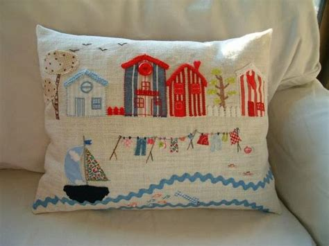 Pillow Homes Creative Fabric Applique And Embroidery Designs Turning