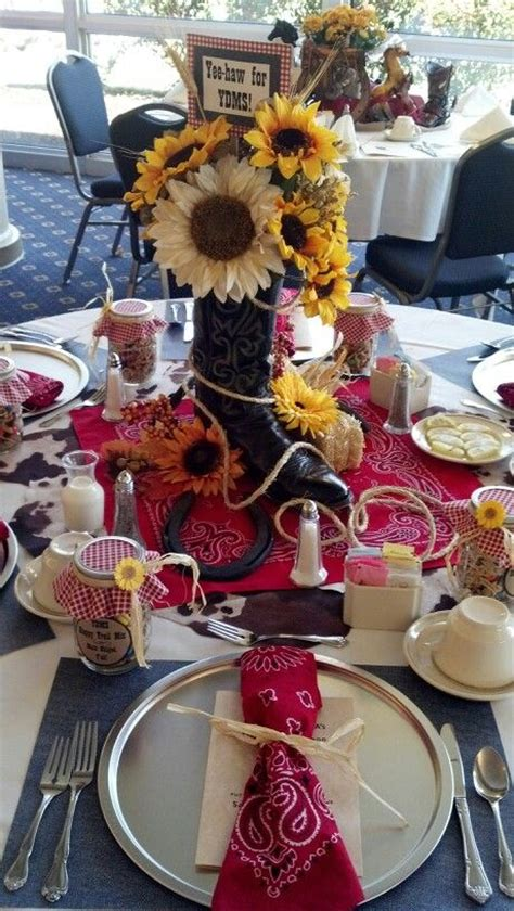 board themed decorations best 25 western table decorations ideas on