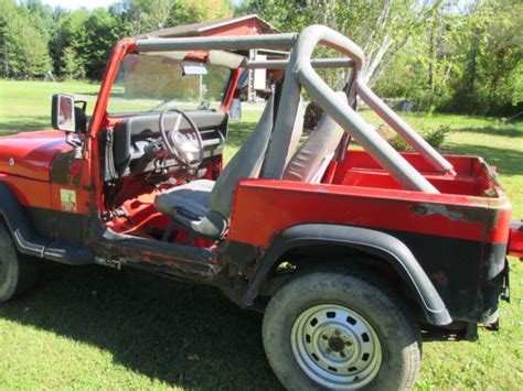 90s Jeep Wrangler 91 Jeep Wrangler Yj 5 Speed Manual 4 Cyl Project Top