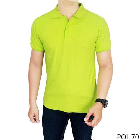 Polo Shirt Polos Kaos Polos Pique Cotton Pique kaos polos kerah hijau stabilo 100 cotton pique pol 70
