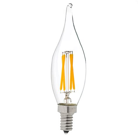 Led Light Bulbs Candelabra Ca10 Led Filament Bulb 40 Watt Equivalent Candelabra Led Vintage Light Bulb Dimmable Led