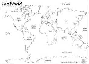 world map template for world map continents and oceans outline family gifts