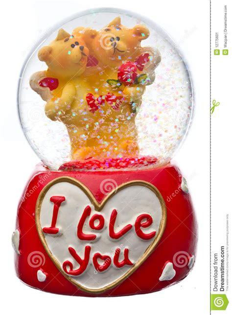 snow globe valentines day snow globe stock image image 12775601