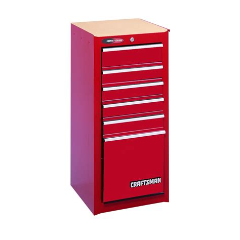 craftsman 6 drawer tool box quiet glide chest craftsman 6 drawer quiet glide 174 side chest red