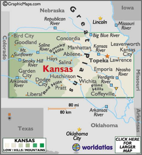 wichita usa map kansas facts on largest cities populations symbols