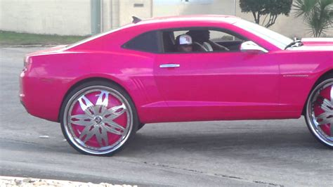 chevy camaro pink pink chevy camaro on 30 quot dub floaters