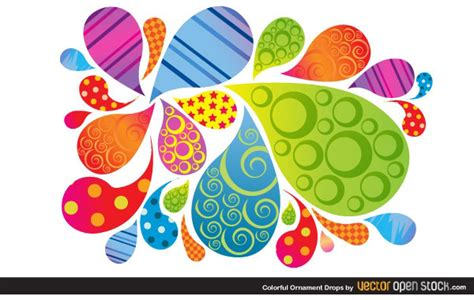 design grafis ornamen vector colorful ornament drops download free vector art