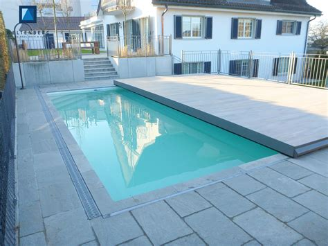terrasse pool sliding swimming pool cover and terrace movable pooldeck