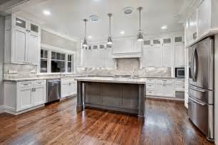 Modern white kitchen 187 custom granite kitchen with large island