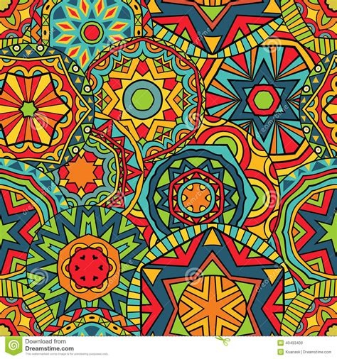 fancy background pattern free fancy rounds ethnic pattern stock vector image 40493409