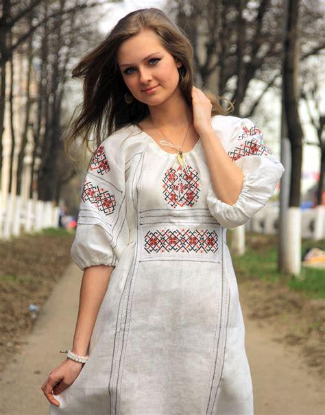 linen dress slavic style rusclothing