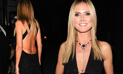 backless and beautiful heidi klum dazzles in plunging