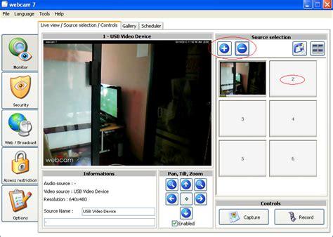 membuat cctv dari webcam membuat kamera cctv menggunakan webcam buku catatan si ugi