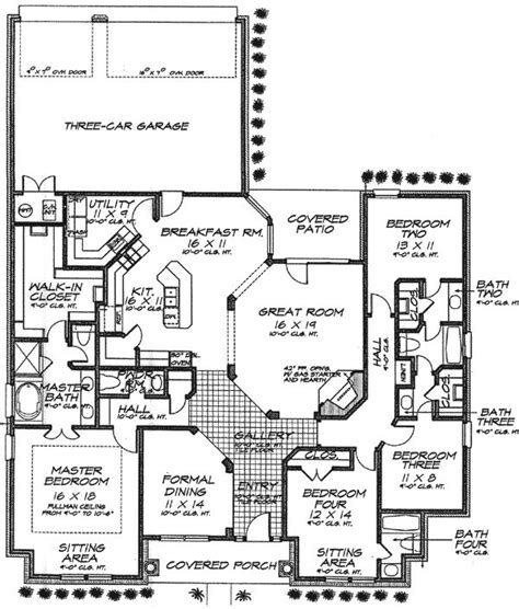 house plans with and bathrooms 7 best images about and layouts on