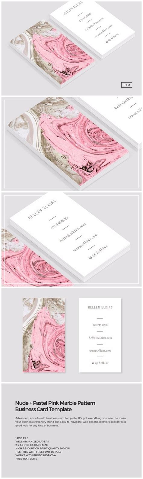 4over business card templat pink marble business card business card design