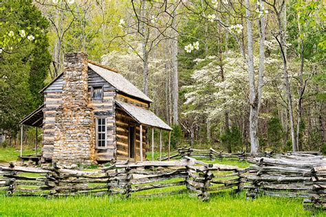 Johns Cabin by Smoky Mountains In William Britten Photography