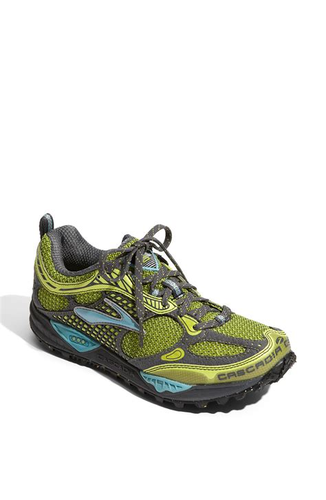 cascadia trail running shoes cascadia 6 trail running shoe in green lyst