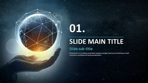 free universe powerpoint themes universe ppt wide goodpello