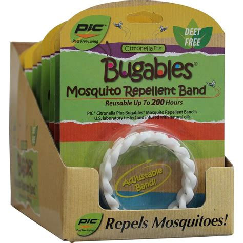 pic bugables citronella plus bracelet of 12 wb h