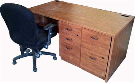 Office Desk Cover 60 Large Wood Computer Desk W Two Grommet Cable Covers Black We Buy And Sell Used