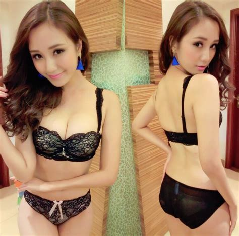 Sport Bra Genie Bra Renda Premium 02796 korean style embroidery lace push up bra set