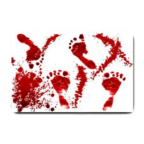 Bloody Footprint Bath Mat by Bloody Footprints Bathmat Doormat Mats Bsec Ct
