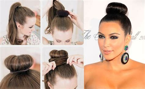 donut bun hairstyle with bangs 13 best images about hair tutorial on pinterest