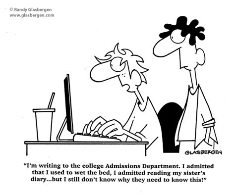 College Application Essay Humor Education Randy Glasbergen Glasbergen Service