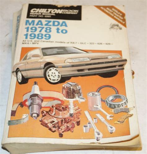 chilton car manuals free download 1989 mazda rx 7 head up display buy 1978 1989 mazda rx 7 glc 323 626 929 mx 6 service repair shop manual chilton motorcycle in