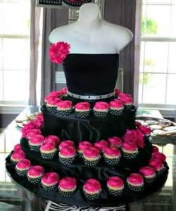 Black couture cupcake stand with pink roses 2040332 weddbook
