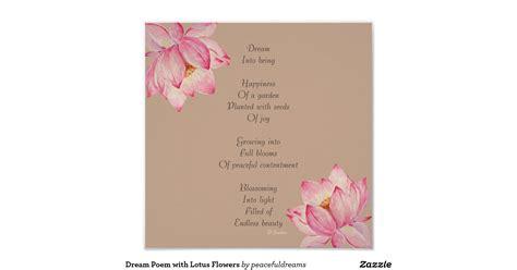 poem on lotus flower in dream poem with lotus flowers poster