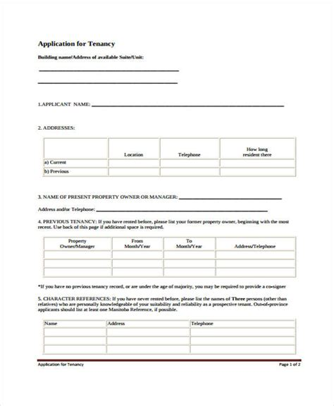 26 Free Rental Application Forms Rental Credit Application Form Template