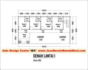 layout tempat kost denah layout 2 lantai kostan jasa desain rumah kost