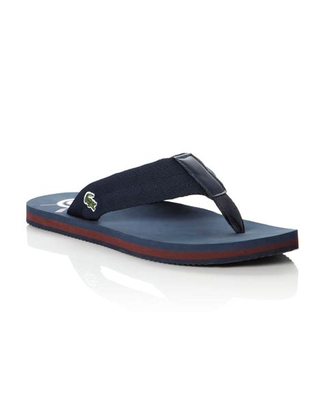 sandals for lacoste randle toepost flip flop sandals in blue for