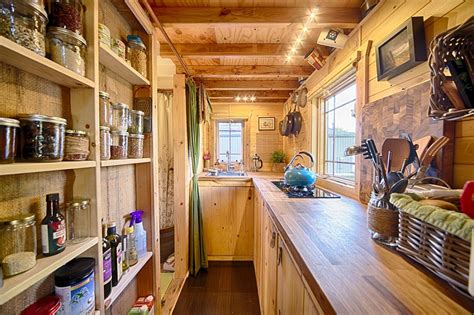 tiny home with a big kitchen mobile tiny tack house is entirely built by hand and