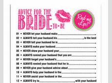 lips bridal shower advice for the bride printable bridal shower game