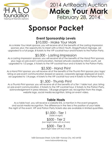 Sponsorship Letter Ideas image result for sponsorship levels letter pta