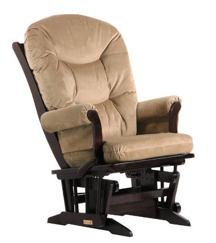 Microfiber Glider Recliner With Ottoman by Dutailier Back Cushion Multiposition Sleigh Glider