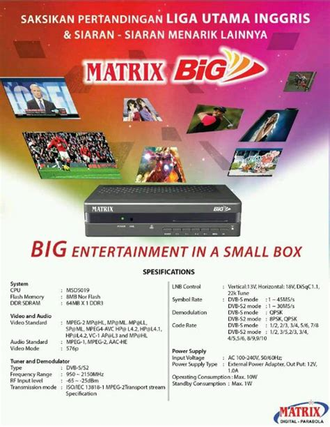 Remote Receiver Parabola Matrix Big Tv Serta Mpeg 2 Matrixgetmecom matrix keluarkan 4 receiver mp4 protech parabola